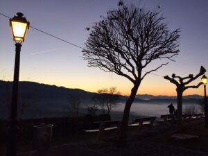 puesta de sol desde lombillo